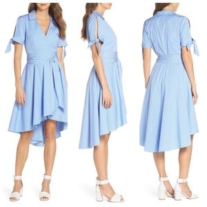 ❌SOLD ❌ Eliza J  cotton A line faux wrap dress